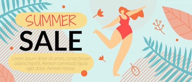 Reclame flyer zomer verkoop banner sjabloon vectorillustratie. Gratis Vector