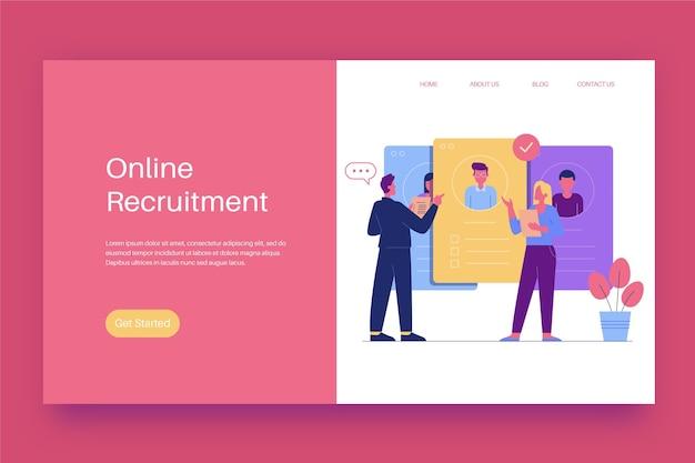 Recruitment concept bestemmingspagina Gratis Vector