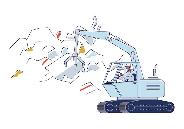 Recyclinginstallatie voor oude gebroken metalen dingen. Premium Vector