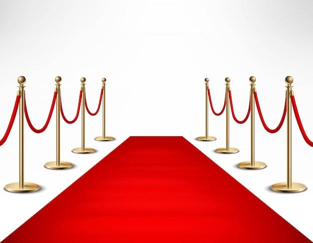 Red carpet celebrities formele evenement banner Gratis Vector