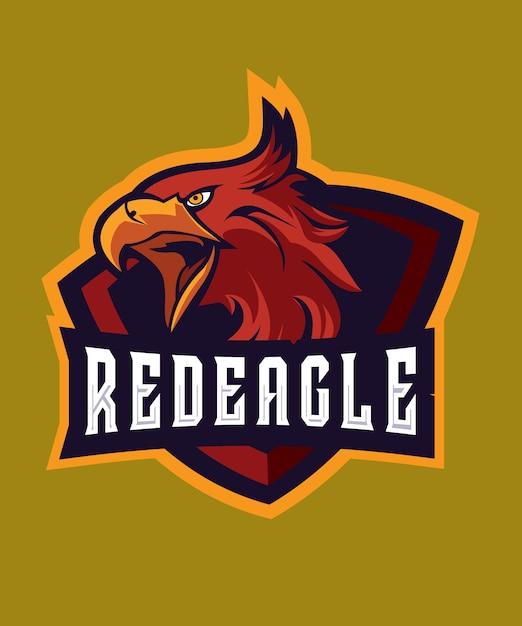 Red eagle e sports-logo Premium Vector