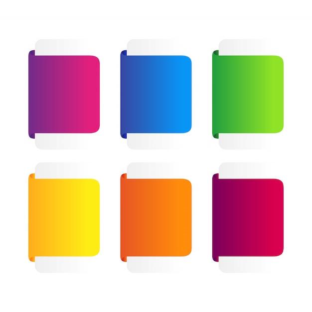 Reeks van kleurrijke lintenbanner. Premium Vector