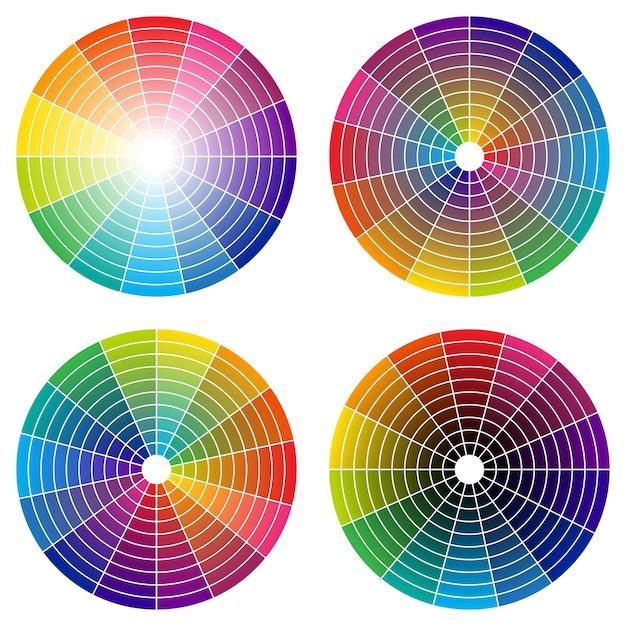 Regenboog kleurenwiel Premium Vector