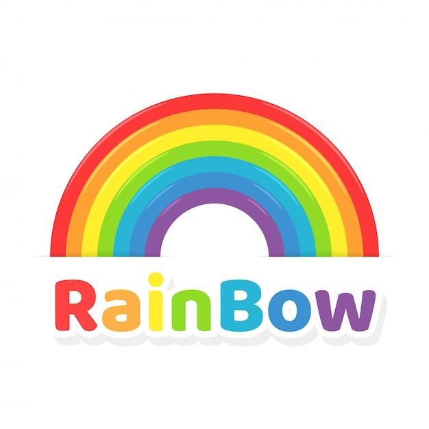 Regenboog pictogram. kleurrijke regenboog Premium Vector