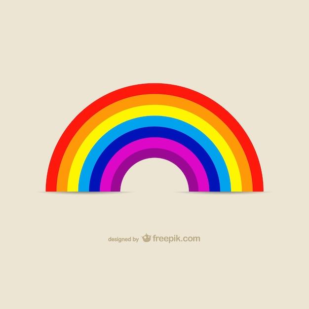 Regenboog pictogramafbeeldingen Gratis Vector