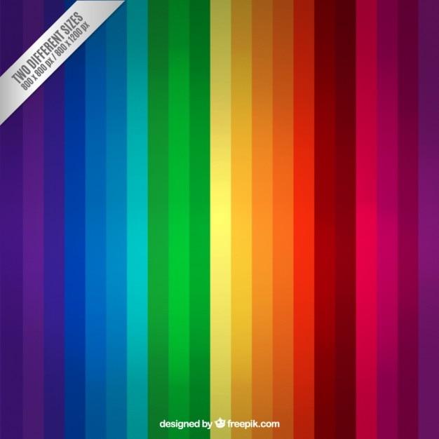 Regenboog strepen achtergrond Gratis Vector