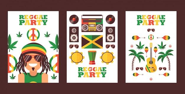 Reggae-feestuitnodiging Premium Vector