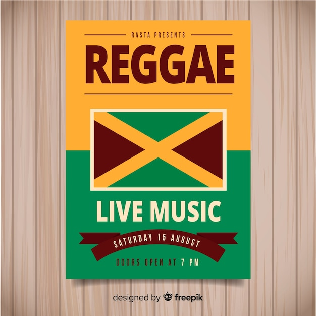 Reggae feestvlieger Gratis Vector