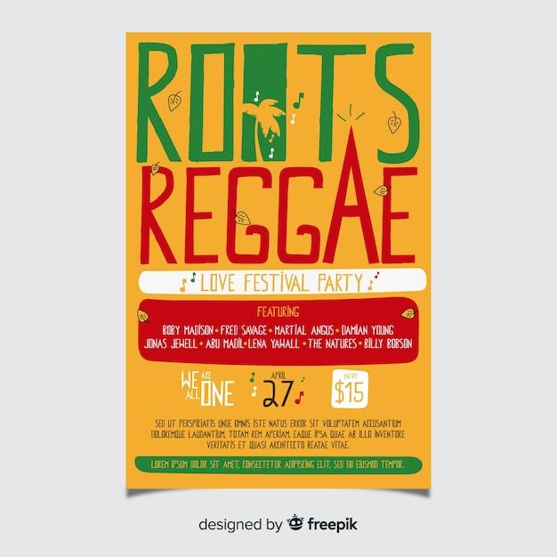 Reggaewortels feestvlieger Gratis Vector