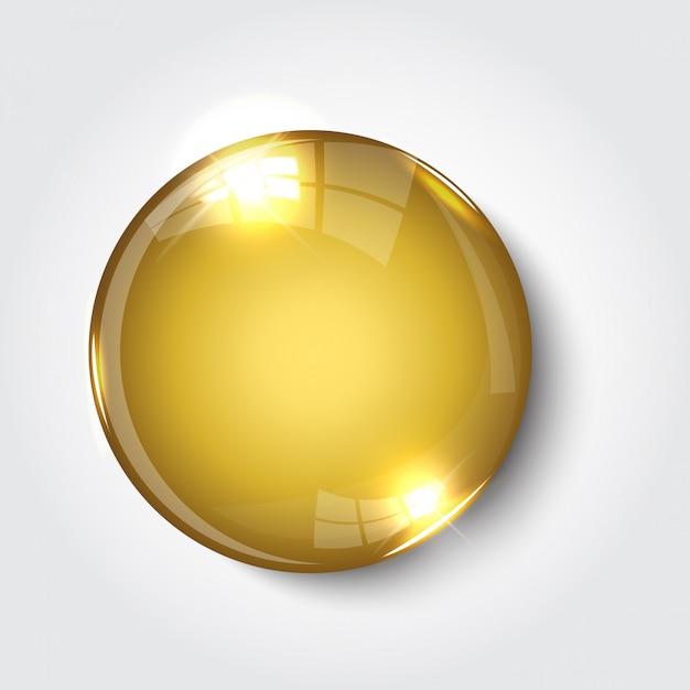 Registreer knop nu kleur goud glanzend Premium Vector