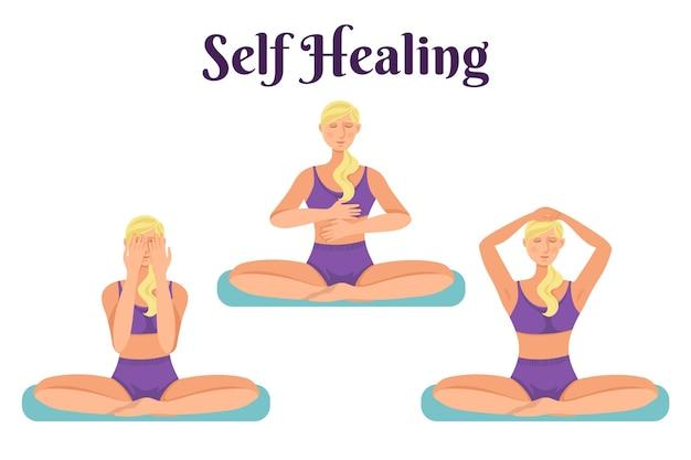 Reiki therapie concept Gratis Vector