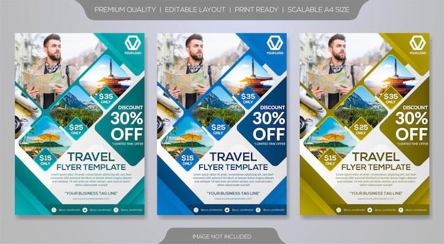 Reis brochure sjabloon Premium Vector