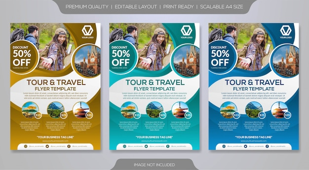 Reis brochure sjabloon Premium Vector