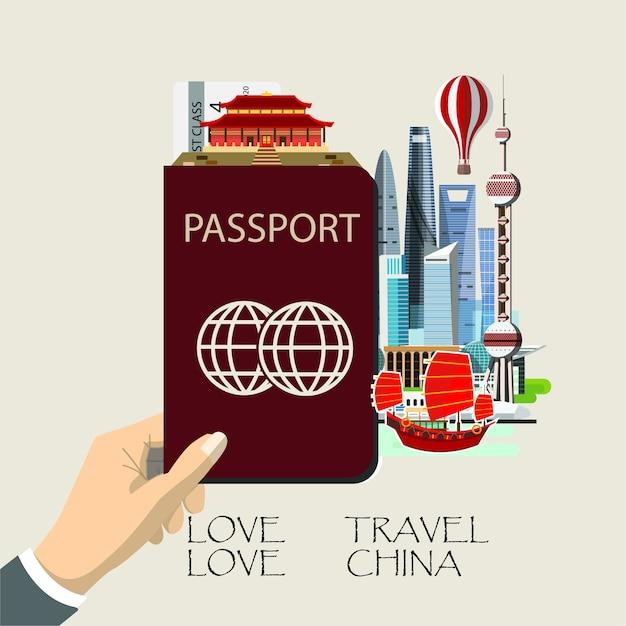 Reis china infographic. Premium Vector