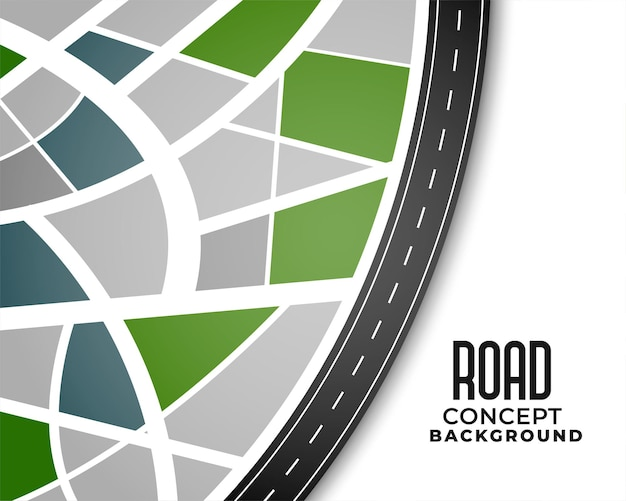 Reis route traject routekaart ontwerp Gratis Vector