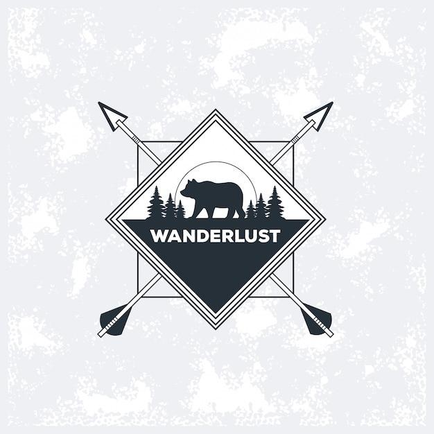 Reislust avontuur logo Premium Vector