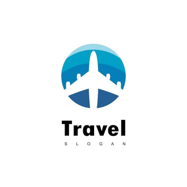 Reizen logo ontwerp vector Premium Vector