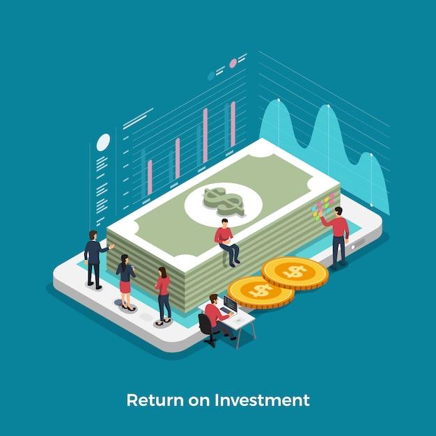 Rendement op investering Premium Vector