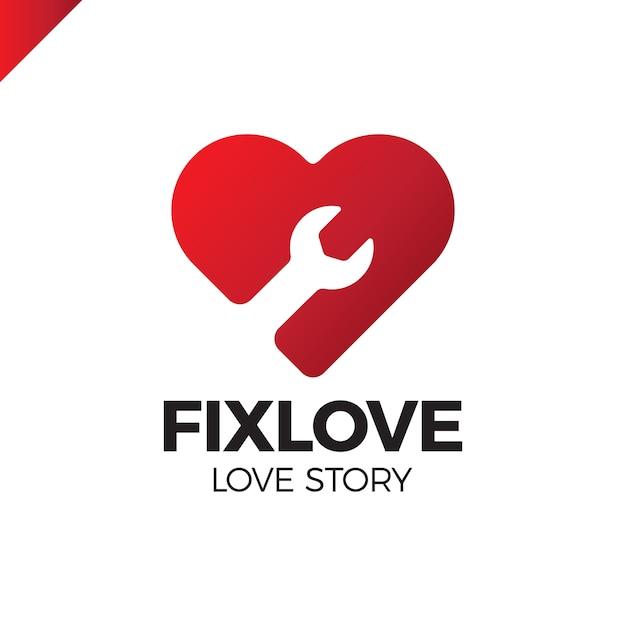 Reparatie love logo design element Premium Vector
