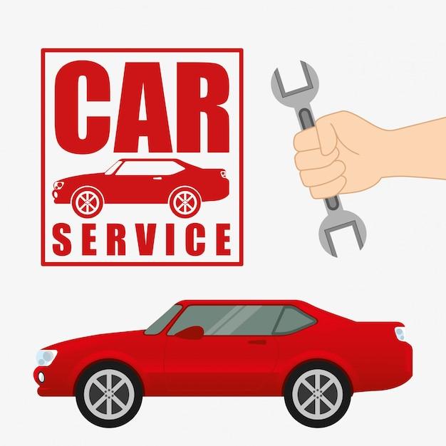 Reparatie service Premium Vector