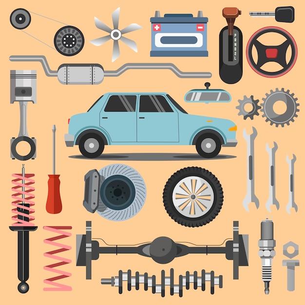Reparatie van machines en apparatuur. Premium Vector