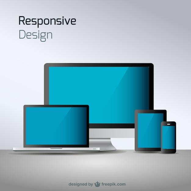 Responsieve web design technologie Gratis Vector