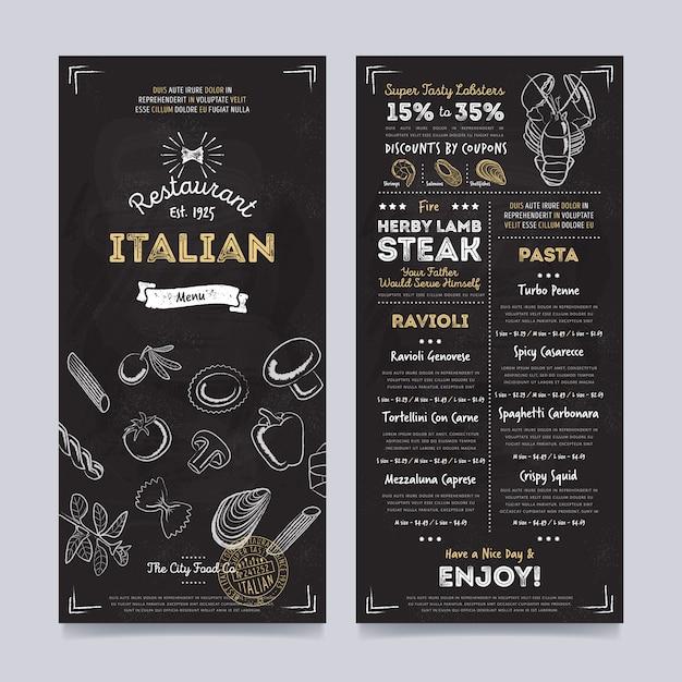 Restaurant café menu sjabloonontwerp, vector Premium Vector