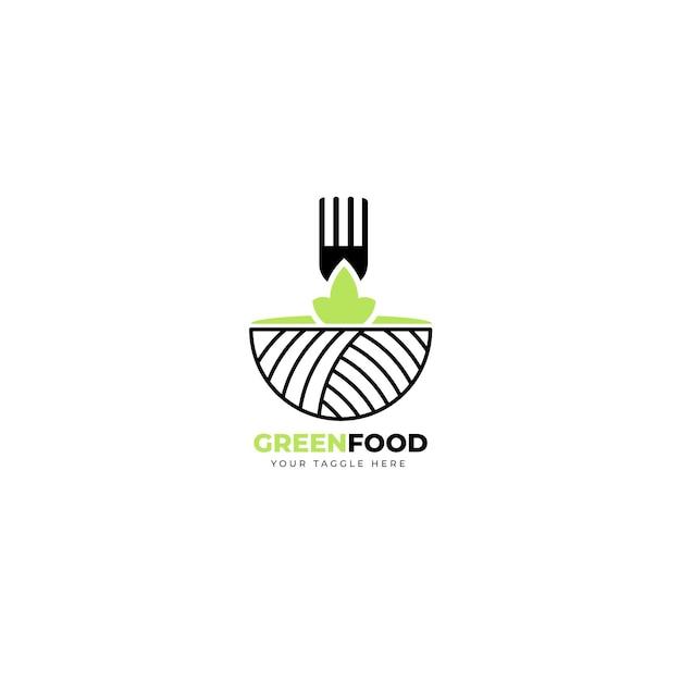 Restaurant logo redactionele sjabloon Gratis Vector