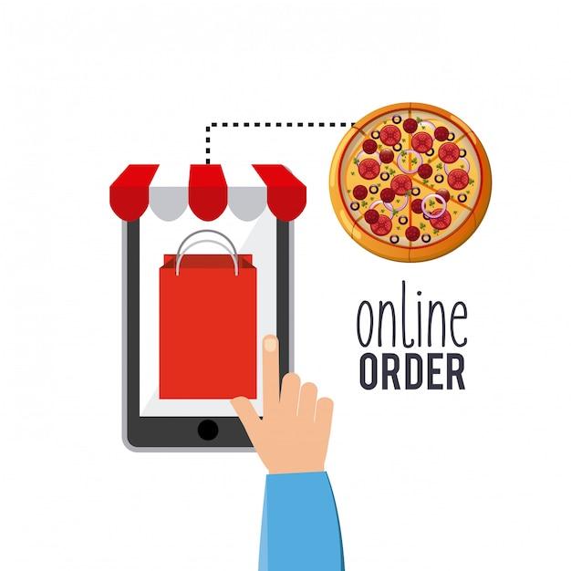 Restaurant menu online bestellen Premium Vector