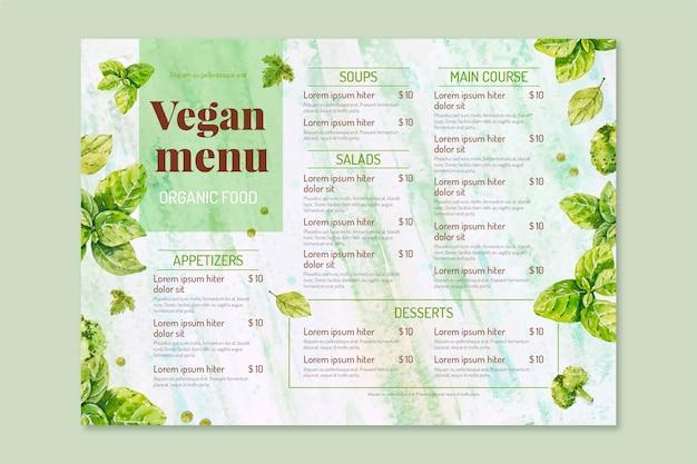 Restaurant menu sjabloon concept Gratis Vector