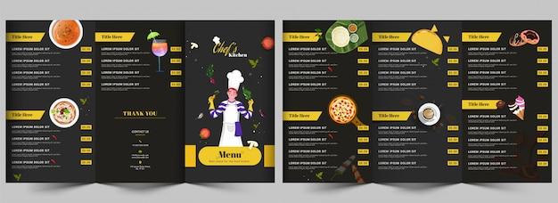 Restaurant menusjabloon Premium Vector