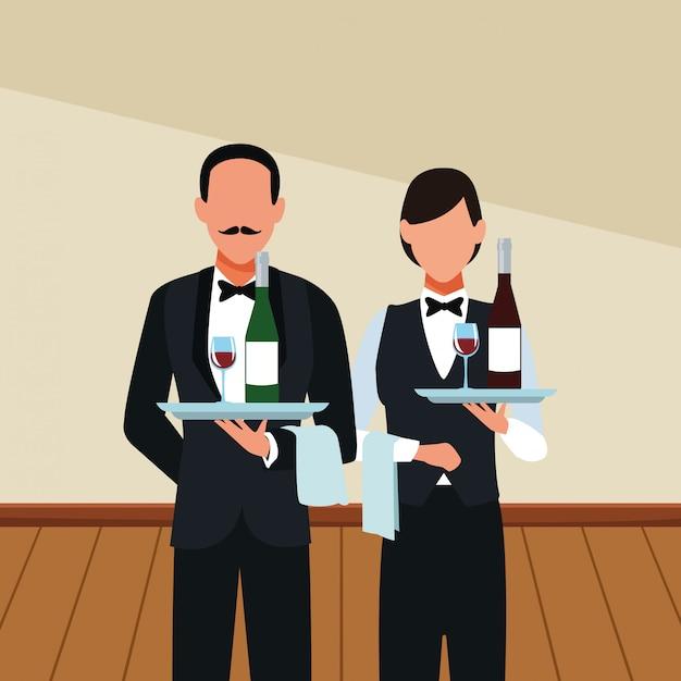 Restaurant obers avatar Premium Vector