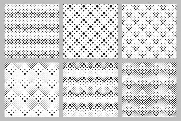 Retro abstracte het patroonreeks van het puntpatroon Premium Vector