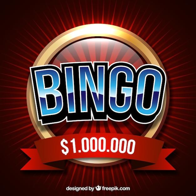 Retro achtergrond van bingo ballen Gratis Vector