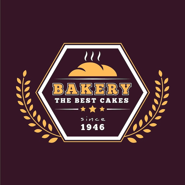 Retro backery logo sjabloon thema Premium Vector