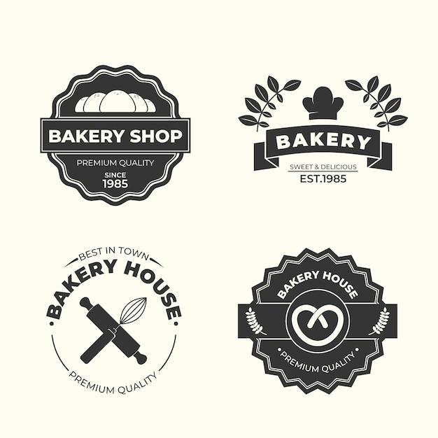 Retro bakkerij logo sjabloon Gratis Vector