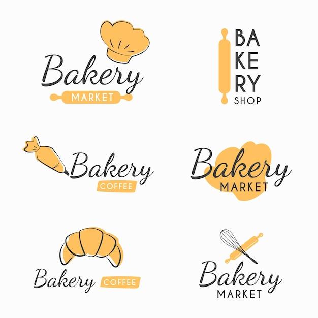 Retro bakkerij logo Gratis Vector