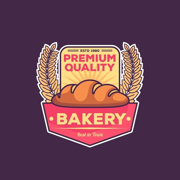 Retro bakkerij-logo Gratis Vector