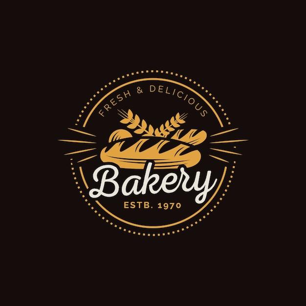 Retro bakkerij taart logo Gratis Vector