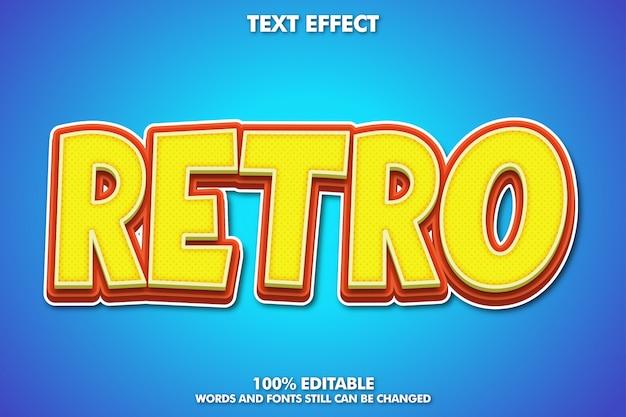 Retro cartoon teksteffect Gratis Vector