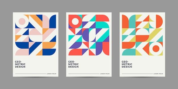 Retro cover design collectie Premium Vector