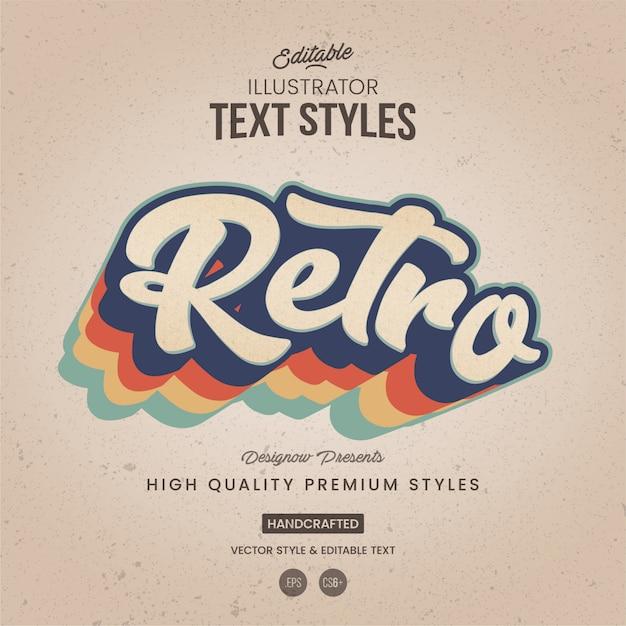 Retro illustrator-tekststijl Premium Vector
