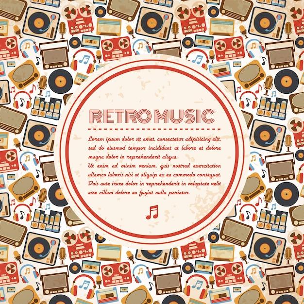 Retro muziekaffiche Gratis Vector