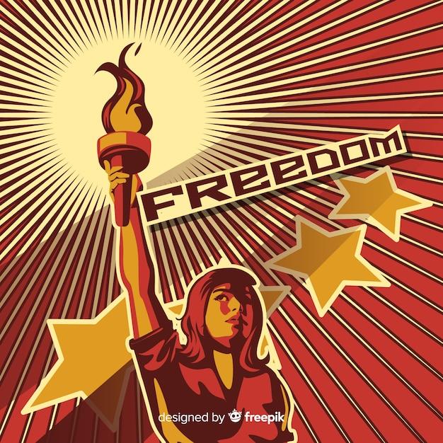 Retro revolutiepropaganda Gratis Vector