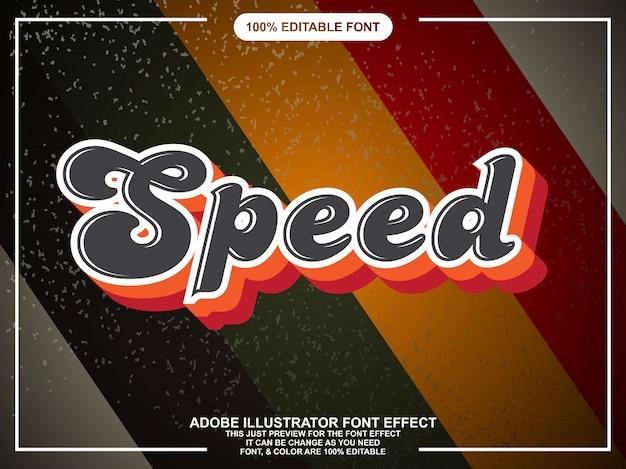 Retro script tekststijl lettertype effect Premium Vector