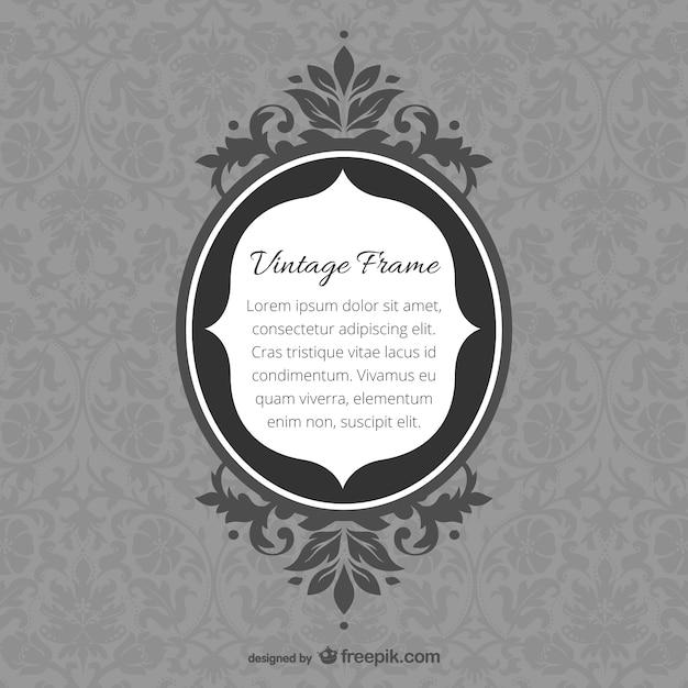 Retro spiegellijst krullend ontwerpen Gratis Vector