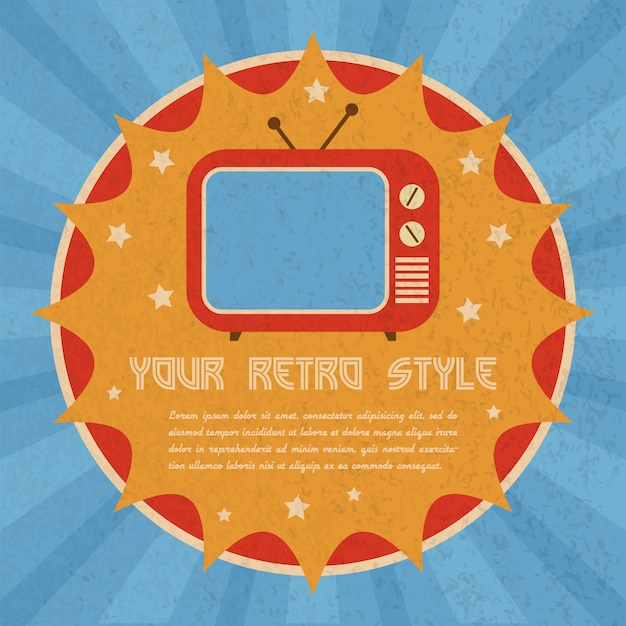 Retro-stijl poster Gratis Vector