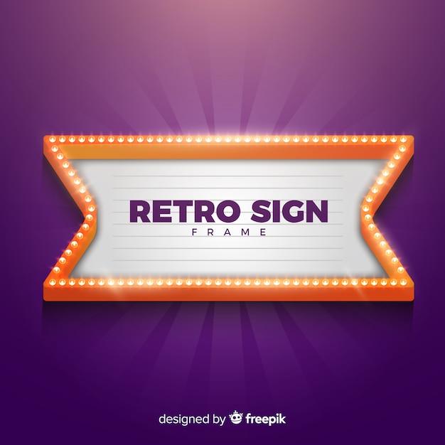 Retro teken frame Gratis Vector