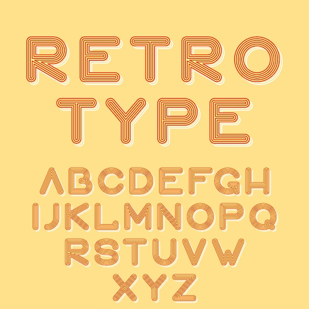 Retro type stijl Gratis Vector