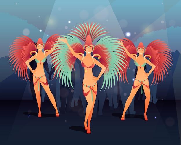 Rio carnaval partij illustratie Premium Vector